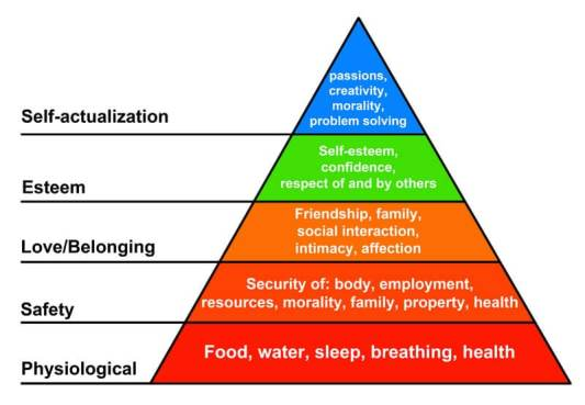 Maslows hierarchy of needs is useful for insight development