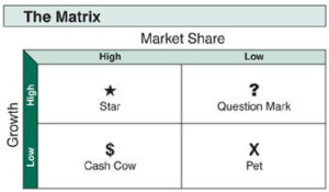 Brand growth share matrix