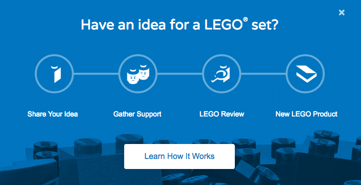 Lego ideas customer co-creation example
