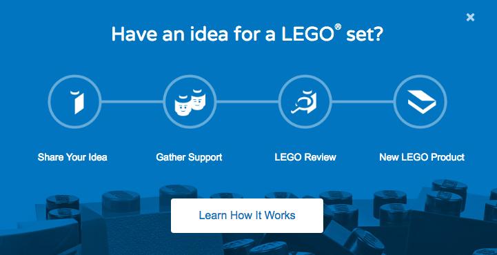 Lego ideas customer co-creation example