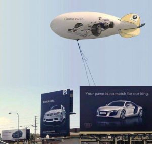 customer first ads audi bmw